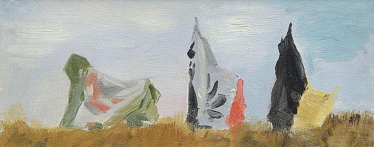 Büchsel Elisabeth 1867 - 1957 Nets on Hiddensee