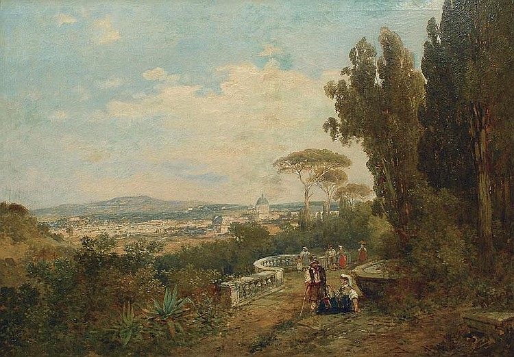 Wagner Karl 1856 - 1921 A view of Romee