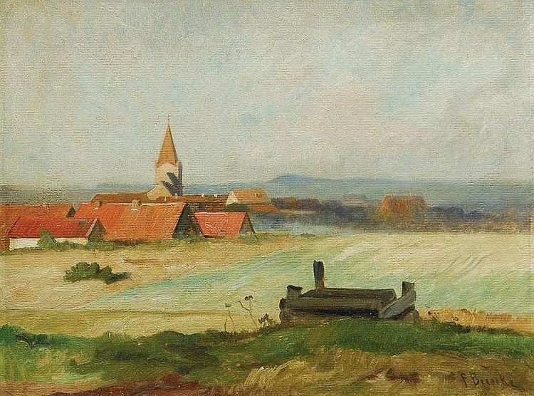 Bunke Franz 1857 - 1939 View of Schwaan