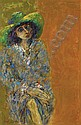Edelmann Hanno 1923 - Woman with Green Hat, Hanno Edelmann, Click for value