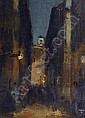 Faure Amandus 1874 - 1931 Alley in the city of, Amandus Faure, Click for value