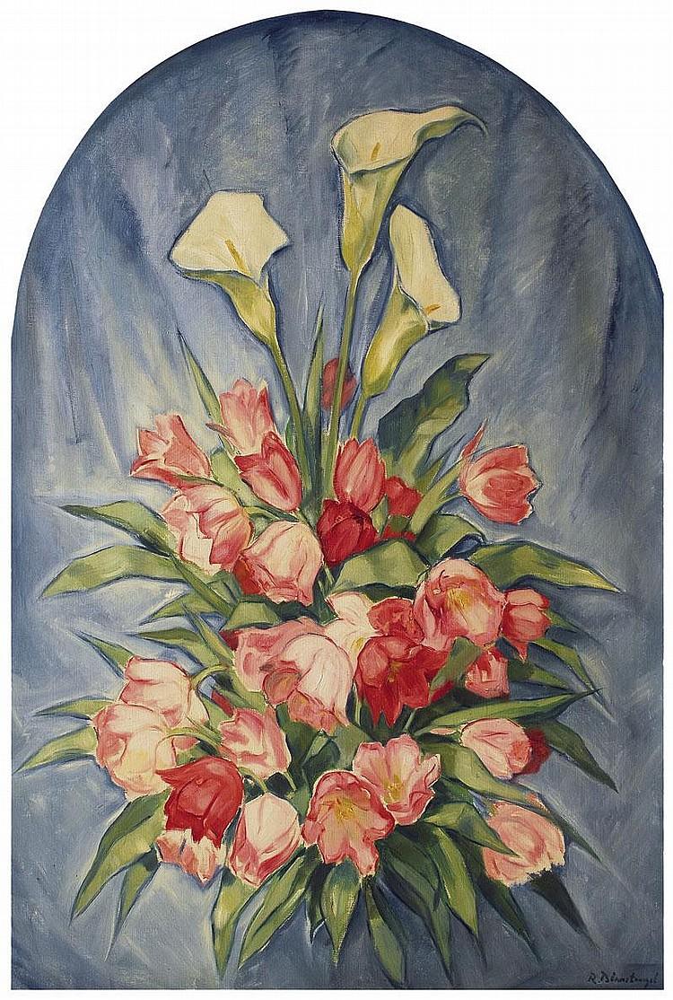 Birnstengel Richard 1881 - 1968 Callas and tulips