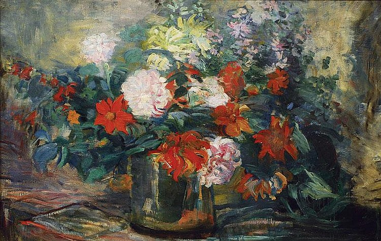 Hitz Dora 1856 - 1924 attr. A flower bouquet