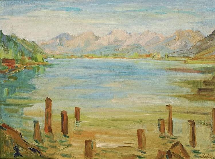 Schnegg Hugo Ernst 1876 - 1950 Near Zell am See