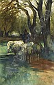 Herbst Thomas 1848 - 1915 A farmer with sheep, Thomas Ludwig Herbst, Click for value