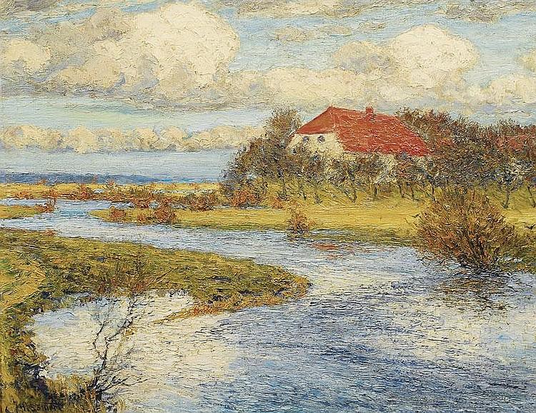 Hessmert Carl 1869 - 1928 Sunny day in springtime