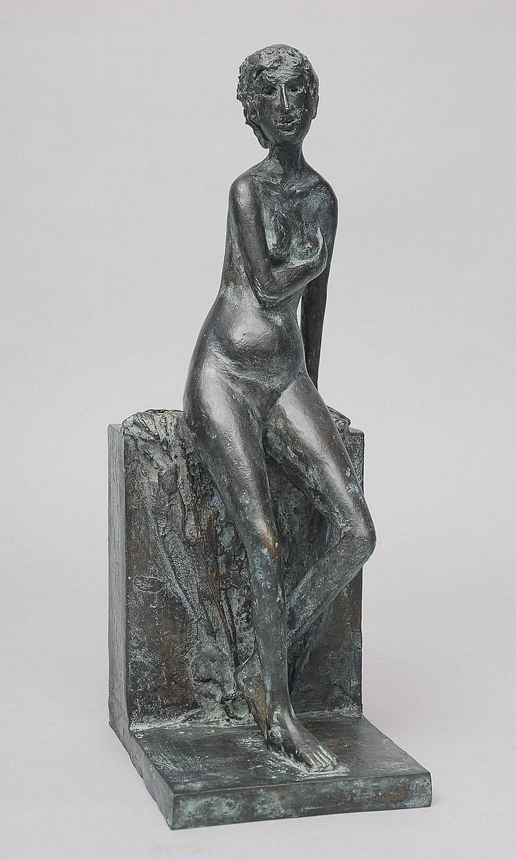 Edelmann Hanno 1923 A bronze figure 'Female nude'