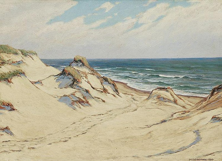 Weidemann Magnus 1880 - 1967 Sylt Oil/hard