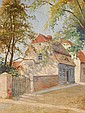 Dettmann Ludwig Adelbye 1865 Berlin 1944 Houses in, Ludwig Dettmann, Click for value
