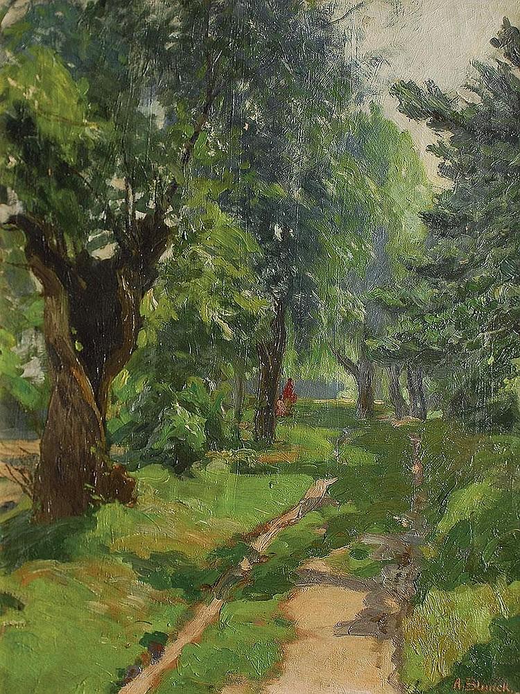 Blunck August Altona 1858 Berlin 1946 In the park