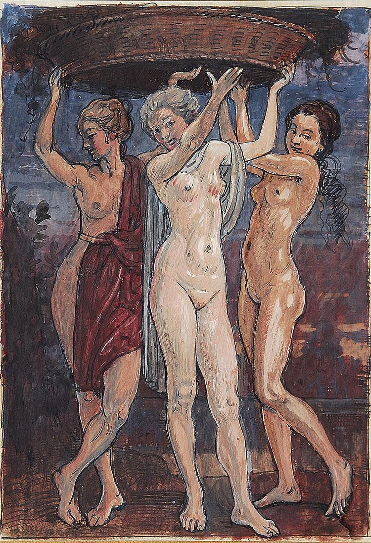 Wohlgemuth Wilhelm Paris 1870 Rom 1942 Three
