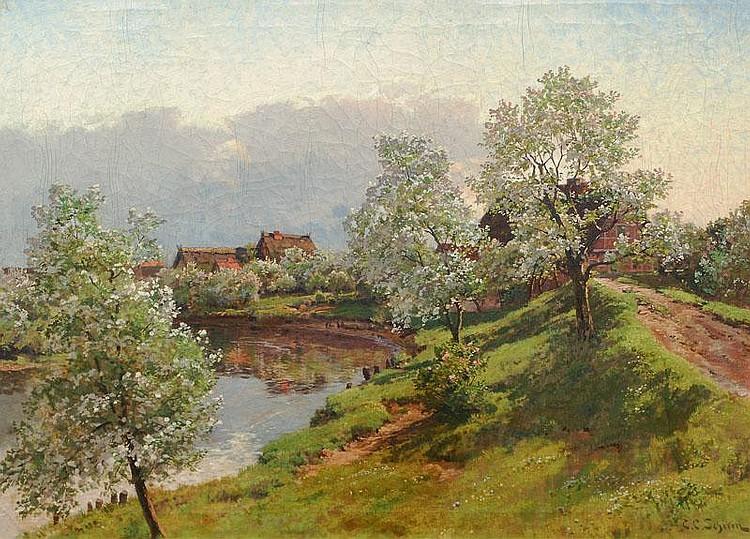 Schirm Carl Cowen (Wiesbaden 1852 - Amelinghausen