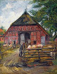 Mieth Hugo (Reichenberg/Bö. 1865 - ) Country scene