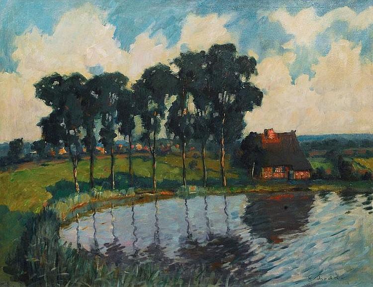 Schodde Wilhelm. Altona 1883 - 1951 Landscape in
