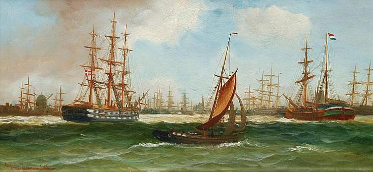 Jensen Alfred. Randers 1859 - Hamburg 1935 Ships
