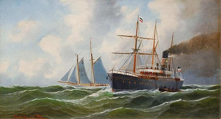 Jensen Alfred. Randers 1859 - Hamburg 1935