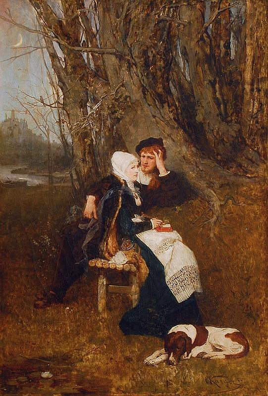 Karger Karl. Wien 1848 - Wien 1913 Young Couple in