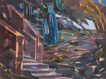 Moritz Melzer (Albendorf 1877 - Berlin 1966). The Lady in Blue.