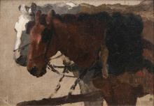 Thomas Herbst (Hamburg 1848 - Hamburg 1915). Team of Horses.