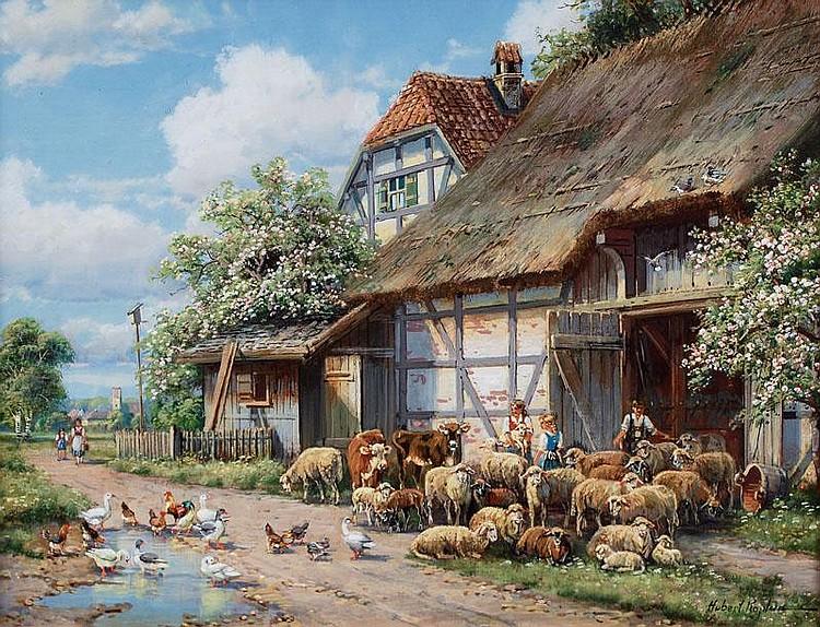 Kaplan Hubert Born: 1940 Munich, 20th cent. Sheep