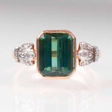 An antique tourmaline diamond ring