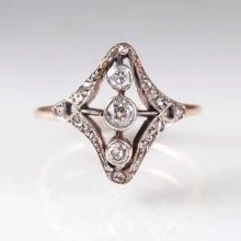 An Art Nouveau diamond ring
