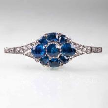 An Art Déco brooch with sapphires and diamonds