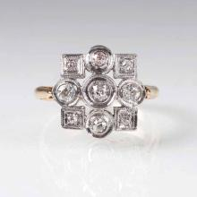An Art Nouveau old cut diamond ring