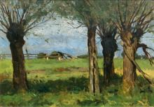 Thomas Herbst (Hamburg 1848 - Hamburg 1915). Pollard Willows.