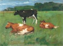 Thomas Herbst (Hamburg 1848 - Hamburg 1915). Cows.