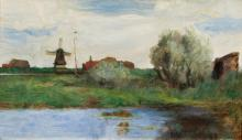 Thomas Herbst (Hamburg 1848 - Hamburg 1915). By the Levee.