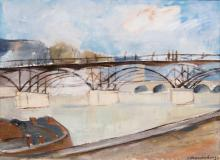 Fritz Kronenberg (Köln 1901 - Hamburg 1960). Bridge over the Seine.