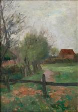 Thomas Herbst (Hamburg 1848 - Hamburg 1915). Near a Village.