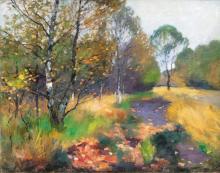 Thomas Herbst (Hamburg 1848 - Hamburg 1915). Autumnal Landscape.