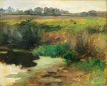 Thomas Herbst (Hamburg 1848 - Hamburg 1915). Pond.