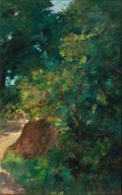 Thomas Herbst (Hamburg 1848 - Hamburg 1915). Path in the Shrubs.