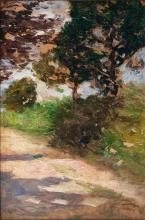 Thomas Herbst (Hamburg 1848 - Hamburg 1915). Sunlit Path.