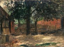 Thomas Herbst (Hamburg 1848 - Hamburg 1915). Farm Yard.