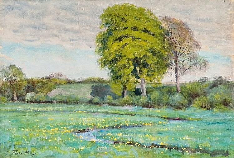 Julius Fürst Kiel 8161 - Kiel 1938 Landscape in