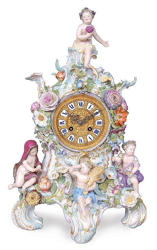 A chimney clock 'The four seasons'