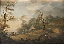 Johann Christian, Brand  Wien 1722 - Wien 1795 attr. <br>Idyllic Landscape with Farm and Herdsmen
