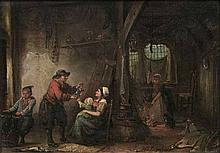 Henricus Engelbert, Reyntjens  Amsterdam 1817 - Amsterdam 1900  <br>In the Fisherman's House
