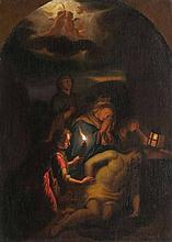 Godfried, Schalcken  Made 1643 - Den Haag 1706 follower, 2nd half 18th cent. <br>The Lamentation of Christ
