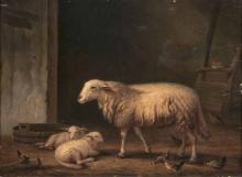 François, Vandeverdonck   1848 - nach 1890  <br>Sheep with Lambs