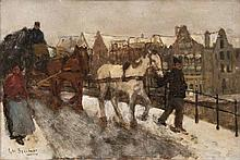 George Hendrik, Breitner  Rotterdam 1857 - Amsterdam 1923  <br>On a Bridge in Amsterdam