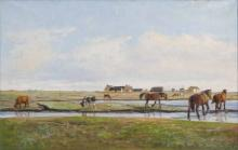 Danish painter   active early 20th cent. <br>Danish Marshland