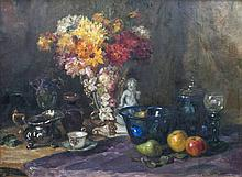 Luma von, Flesch-Brunningen  Brünn 1856 -  1934  <br>Still Life with Flowers in a Vase