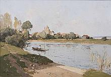 Paul, Lecomte  Paris 1842 - Paris 1920  <br>River Landscape