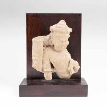 A Sandstone Sculpture of a Deity