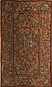 EUROPEAN NEEDLEWORK BROWN-GROUND HANGING CARPET